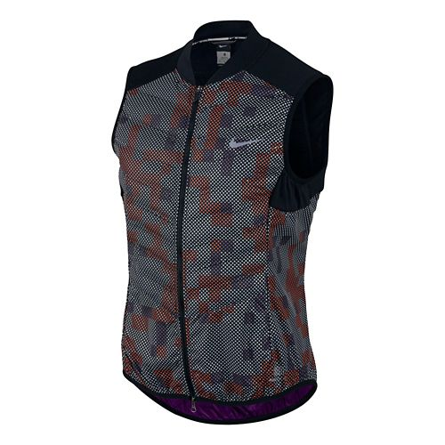 Womens Nike Aeroloft Flash Running Vest - Black/Print L
