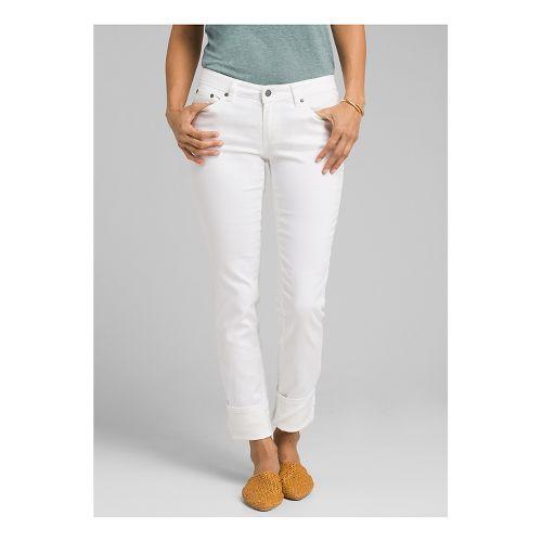 Womens Prana Kara Jean Full Length Pants - White 14