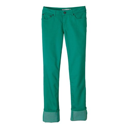 Womens Prana Kara Jean Full Length Pants - Cool Green 4
