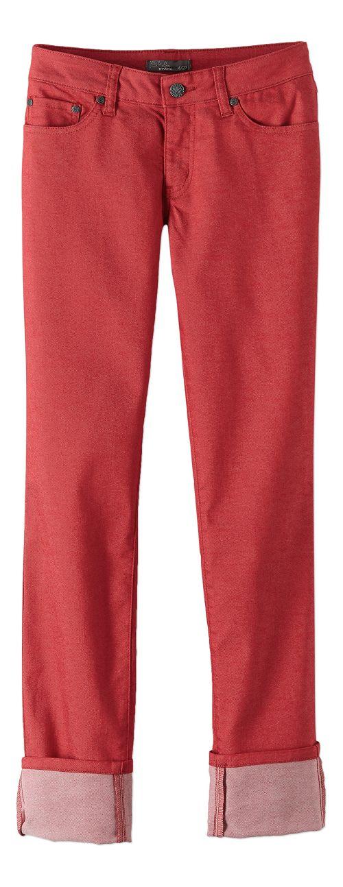 Womens prAna Kara Jean Pants - Sunwashed Red 14