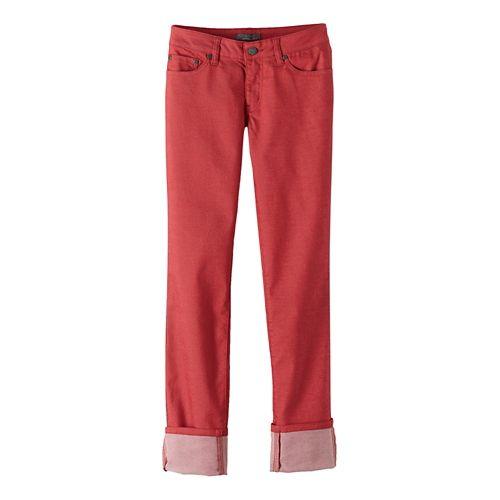 Womens prAna Kara Jean Pants - Sunwashed Red 6