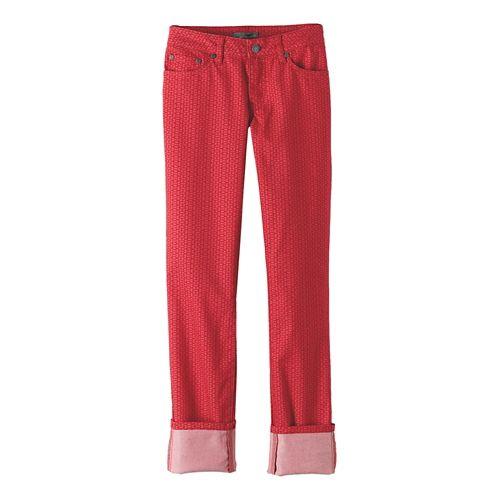 Womens prAna Kara Jean Pants - Red Mixer OS