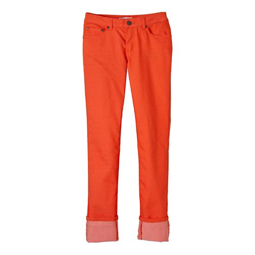 Womens Prana Kara Jean Full Length Pants - Neon Orange 00