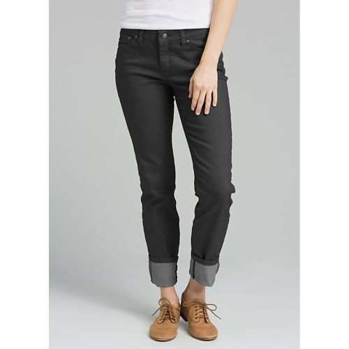 Womens Prana Kara Jean Full Length Pants - Charcoal Diamond 00