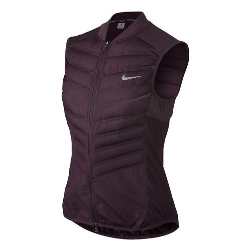 Womens Nike Aeroloft 800 Running Vest - Noble Purple M