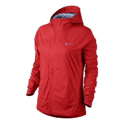 Womens Nike Shieldrunner Warm-Up Hooded Jacket - Light Crimson L