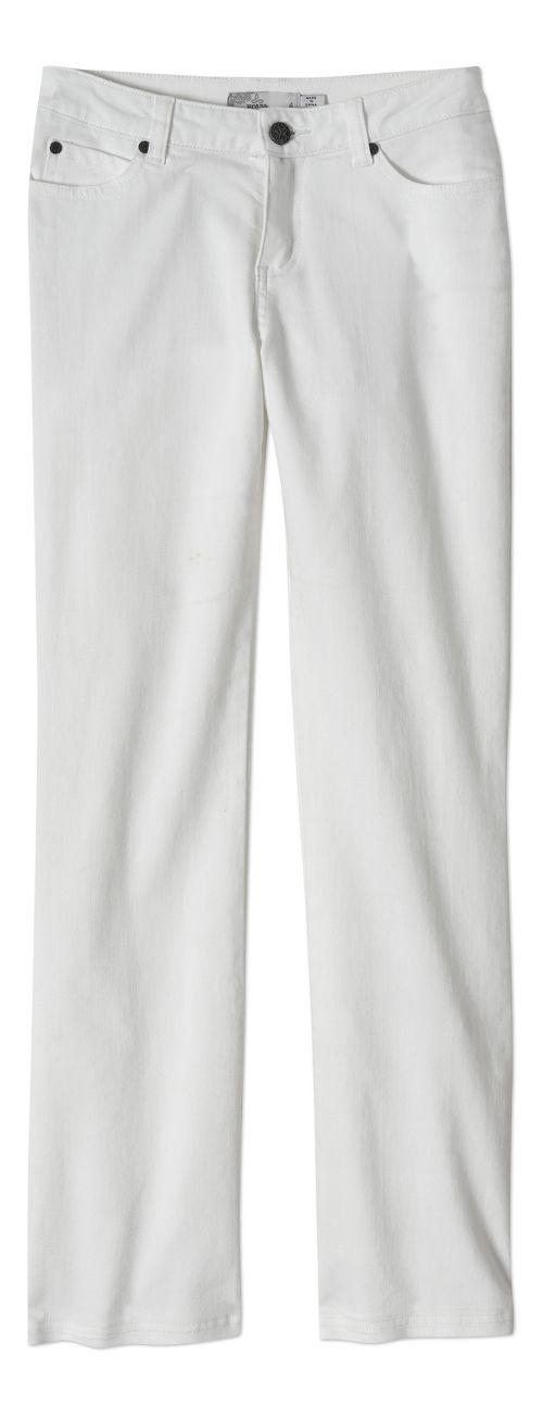 Womens prAna Jada Jean Pants - White 2