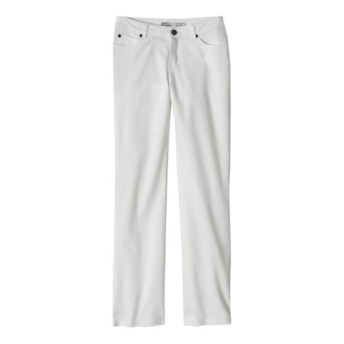 Womens Prana Jada Jean Full Length Pants - White 8-T