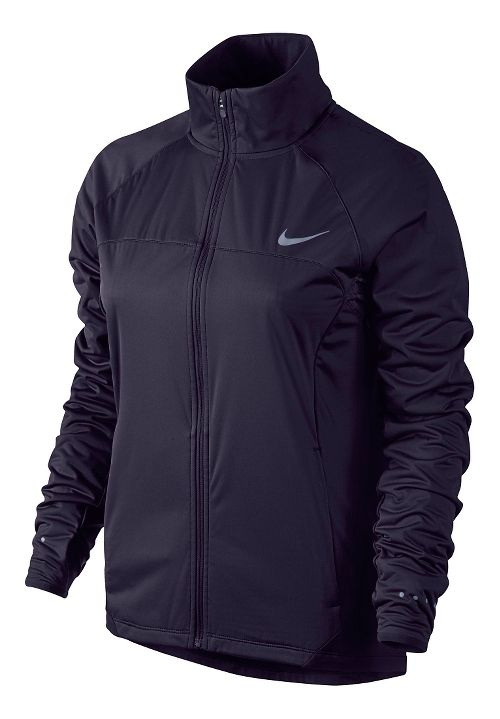 Womens Nike Shield FZ 2.0 Warm-Up Unhooded Jacket - Purple Dynasty XL