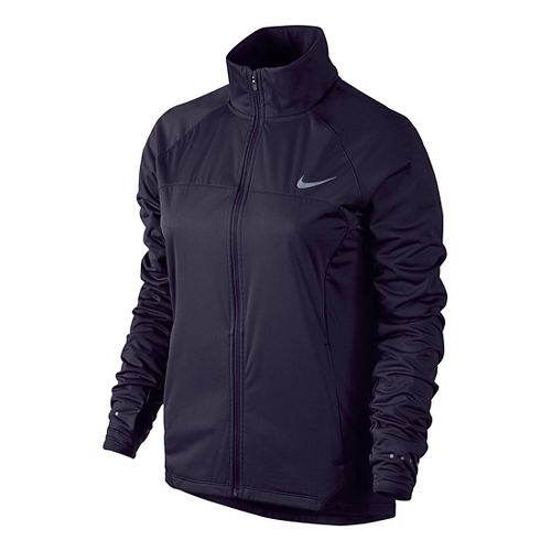 Womens Nike Shield FZ 2.0 Warm-Up Unhooded Jacket - Purple Dynasty L