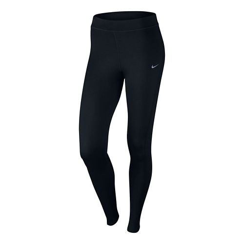 Womens Nike Thermal Full Length Tight - Black L
