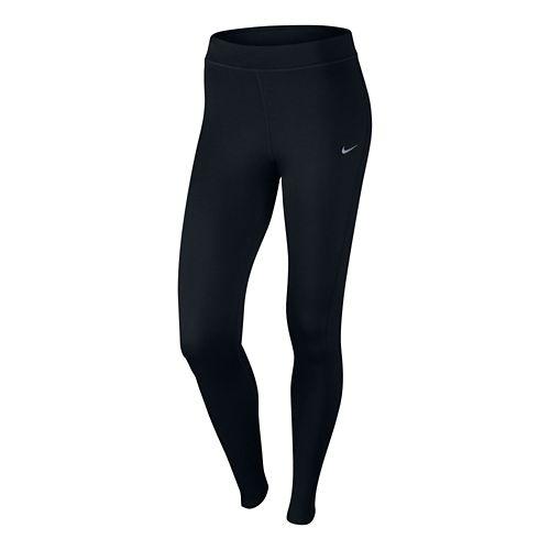 Womens Nike Thermal Full Length Tight - Black XL