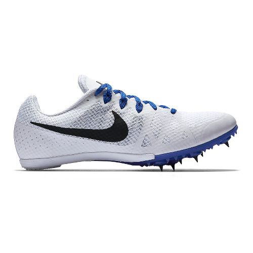 Mens Nike Zoom Rival M 8 Track and Field Shoe - White/Blue 8.5
