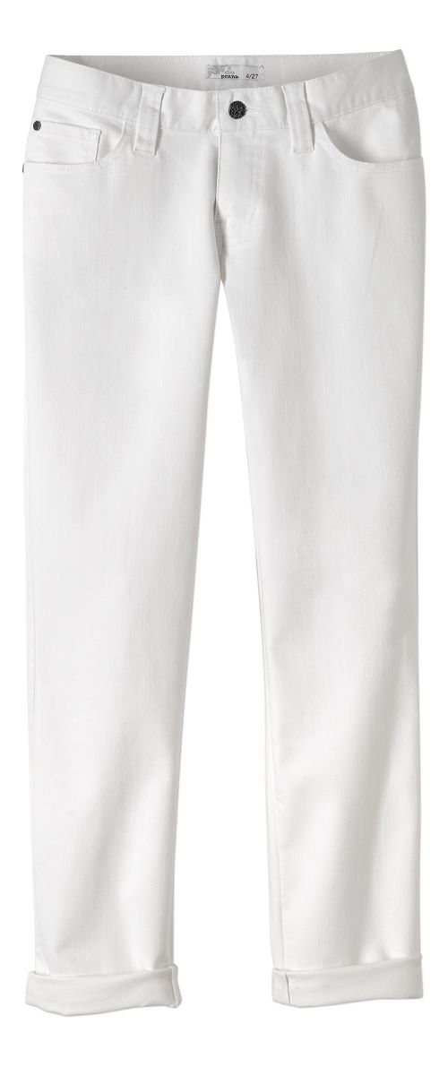 Womens prAna Honour Jean Pants - White 6