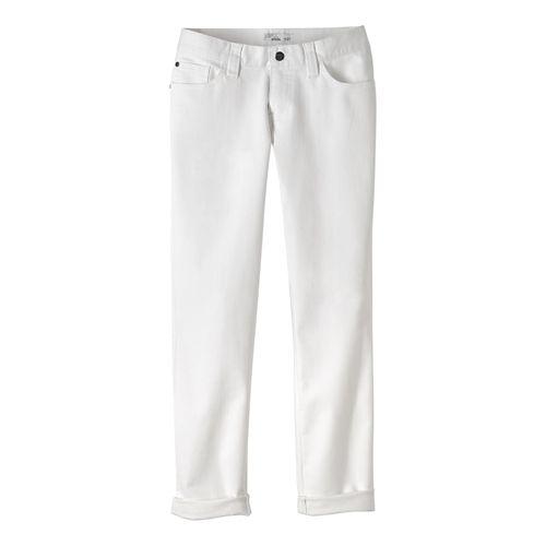 Womens prAna Honour Jean Pants - White 2