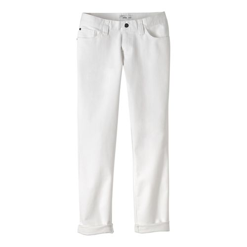 Womens prAna Honour Jean Pants - White 4