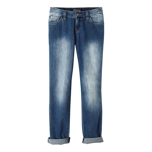 Womens prAna Honour Jean Pants - Antique Blue 8
