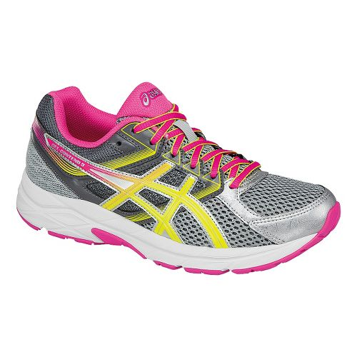 Womens ASICS GEL-Contend 3 Running Shoe - Grey/Safety Yellow 11