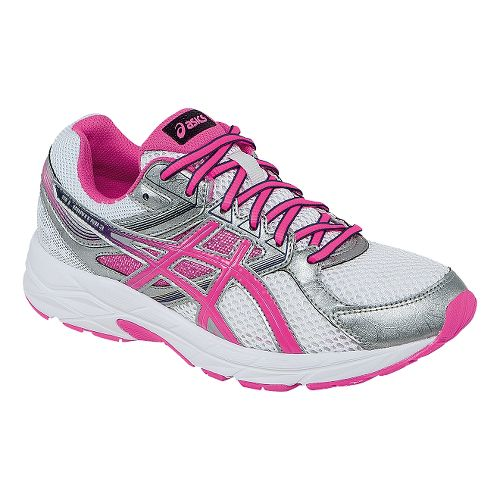 Womens ASICS GEL-Contend 3 Running Shoe - White/Pink 7