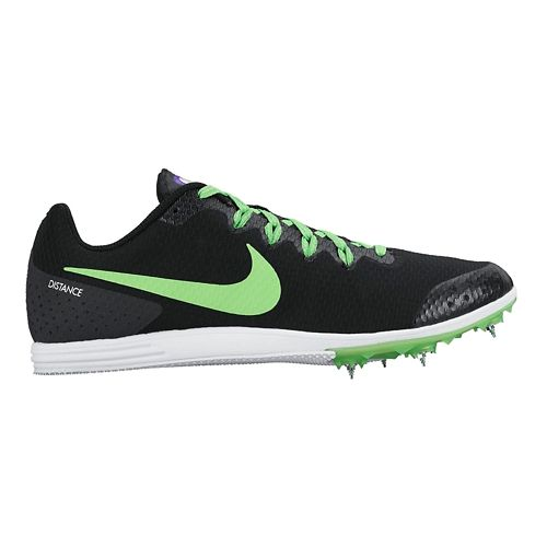 Mens Nike Zoom Rival D 9 Track and Field Shoe - Black/Green 11