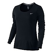 Women's Nike Dri-Fit Contour Long Sleeve No Zip Technical Tops