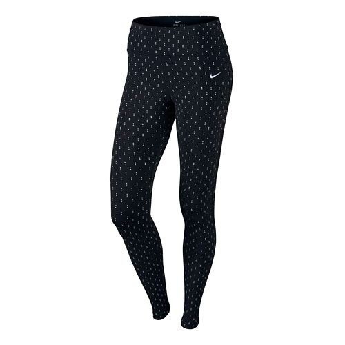 Womens Nike Epic Lux Flash Full Length Tights - Black XL