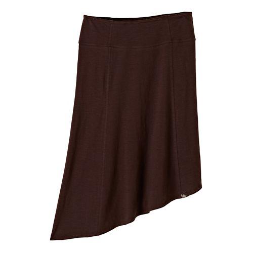 Womens Prana Jacinta Fitness Skirts - Espresso XL