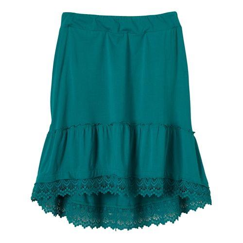 Womens Prana Laine Fitness Skirts - Sea Green M