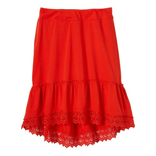 Womens Prana Laine Fitness Skirts - Cherry Pop L