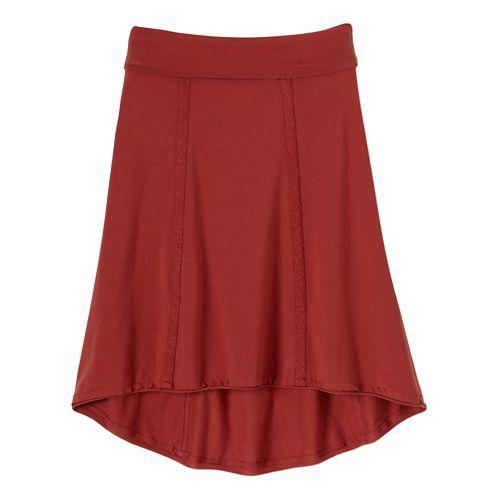 Womens Prana Tia Fitness Skirts - Tomato S