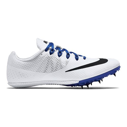 Mens Nike Zoom Rival S 8 Track and Field Shoe - White/Blue 8.5