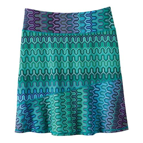 Womens Prana Deedra Fitness Skirts - Cool Green Ibiza XS
