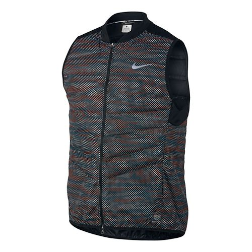 Mens Nike Aeroloft Flash Running Vests - Black L