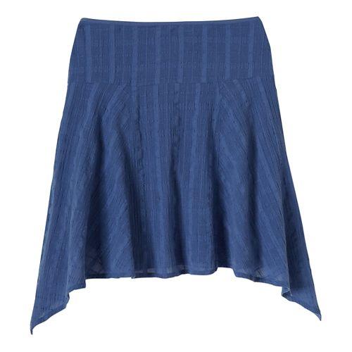 Womens Prana Rhia Fitness Skirts - Bijou Blue OS
