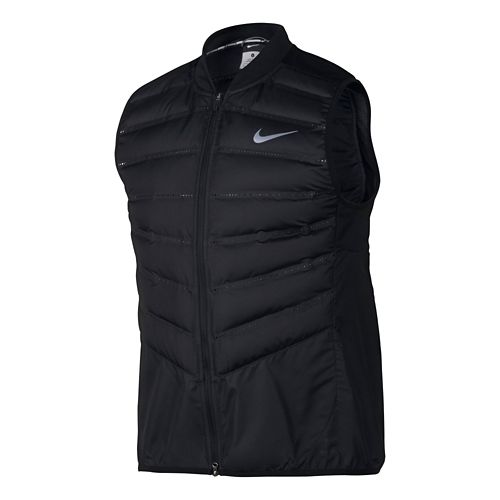 Mens Nike Aeroloft 800 Running Vests - Black XL