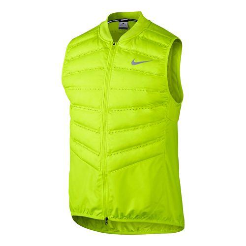 Mens Nike Aeroloft 800 Running Vests - Volt L