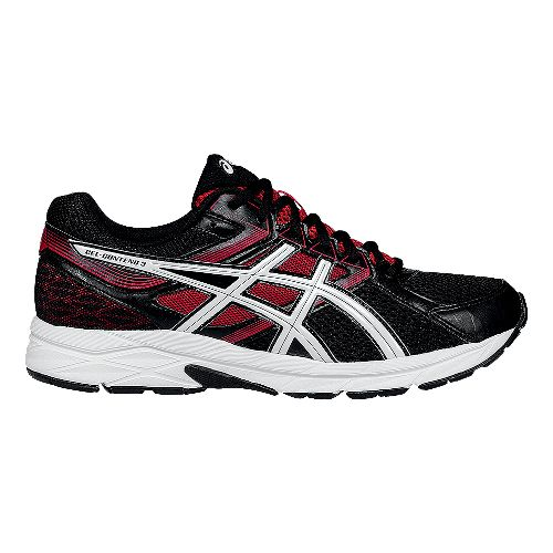 Mens ASICS GEL-Contend 3 Running Shoe - Onyx/Red 9.5