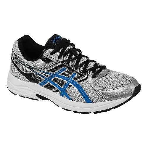 Mens ASICS GEL-Contend 3 Running Shoe - Silver/Blue 10.5