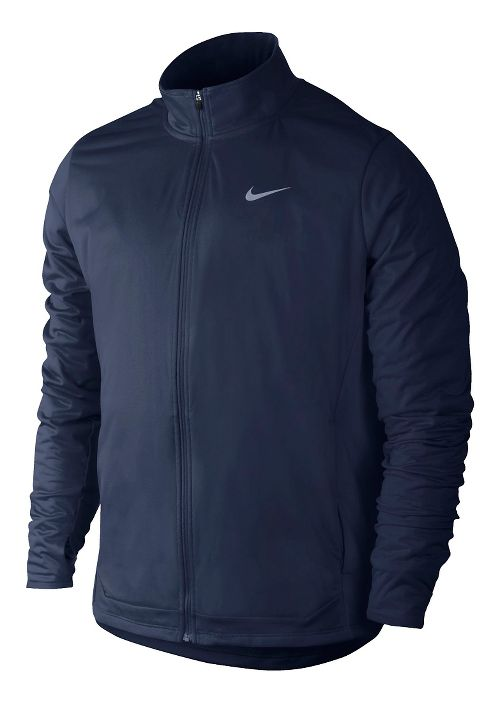 Mens Nike Shield FZ Outerwear Jackets - Midnight Navy S