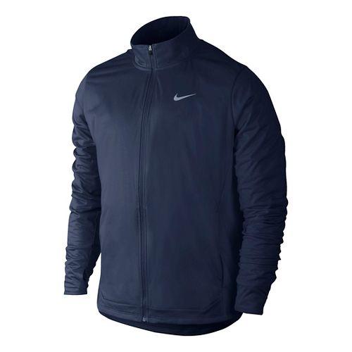 Mens Nike Shield FZ Outerwear Jackets - Midnight Navy L