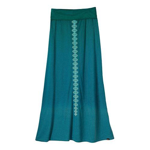 Womens Prana Benita Fitness Skirts - Sea Green XL