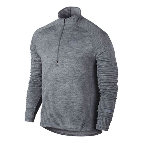 Mens Nike Element Sphere Long Sleeve 1/2 Zip & Hoodies Technical Tops - Cool Grey ...