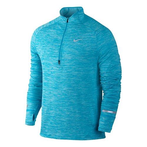 Mens Nike Element Sphere Long Sleeve 1/2 Zip Technical Tops - Imperial Blue M