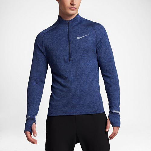 Mens Nike Element Sphere Long Sleeve 1/2 Zip & Hoodies Technical Tops - Binary Blue ...