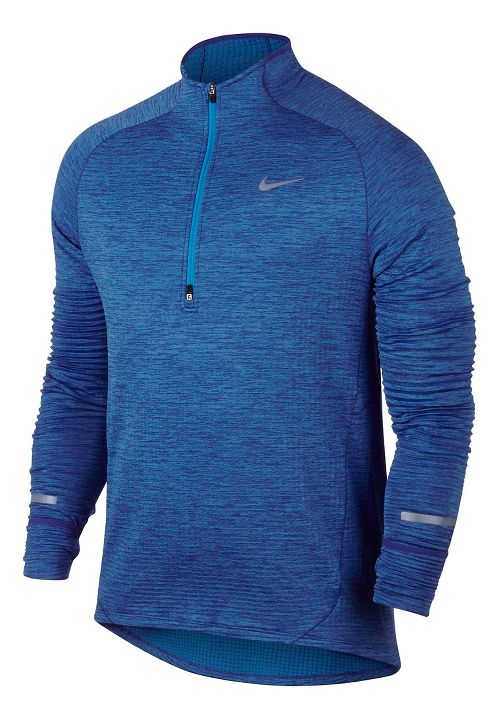 Mens Nike Element Sphere Long Sleeve 1/2 Zip & Hoodies Technical Tops - Game Royal S