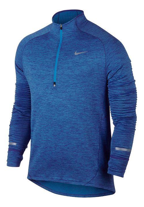 Mens Nike Element Sphere Long Sleeve 1/2 Zip & Hoodies Technical Tops - Game Royal XL
