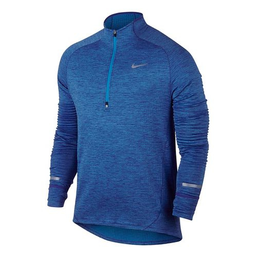 Mens Nike Element Sphere Long Sleeve 1/2 Zip & Hoodies Technical Tops - Game Royal ...