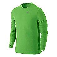 Mens Nike Dri-Fit Contour Long Sleeve No Zip Technical Tops