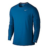 Mens Nike Dri-Fit Contour Long Sleeve No Zip Technical Tops