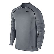 Mens Nike Hyperwarm Max Fitted Long Sleeve No Zip Technical Tops